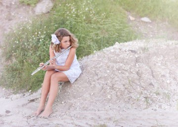orlando photographer, young-girl-with-flute