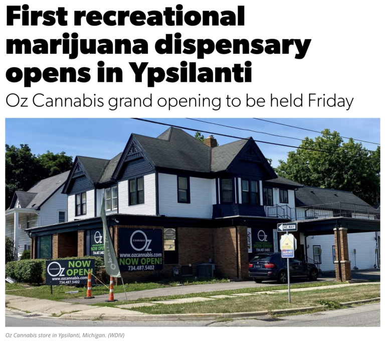 First Recreational Marijuana Dispensary in Ypsilanti