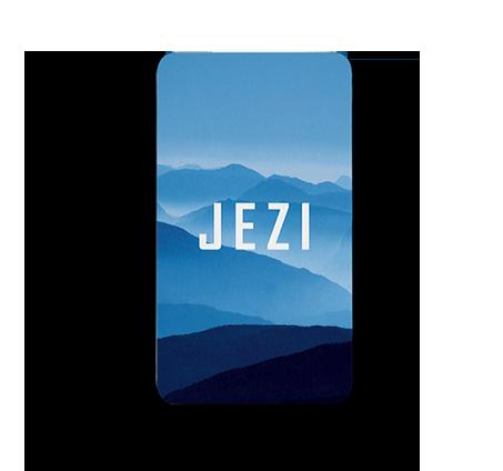"""Front of Jezi Card"""