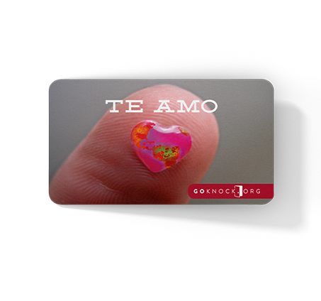 """Close up of Te Amo front card"""