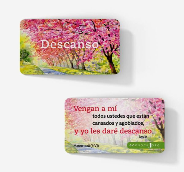 """Front and back of Descanso card"""