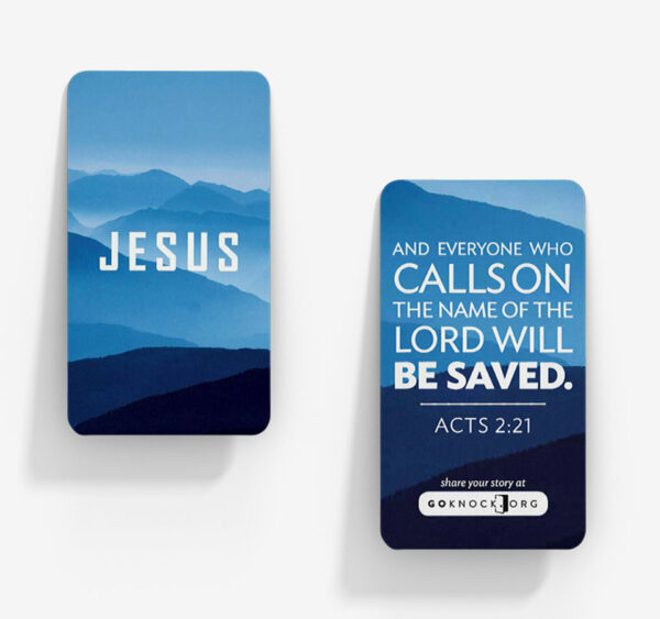 """Front and back of Jesus card"""