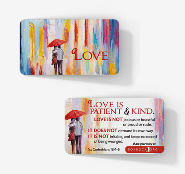 """Front and back of love card"""