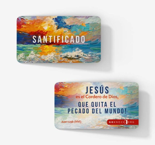 """Front and back of Santificado card"""