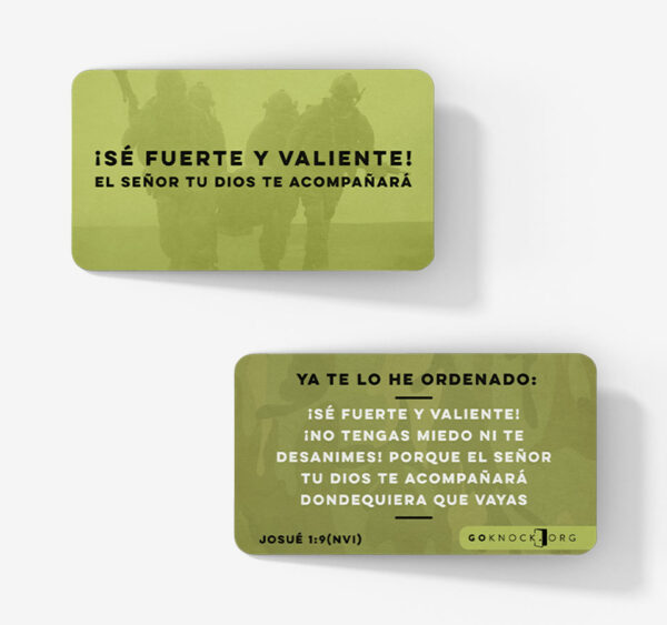 """Front and back of Se Fuerte card"""