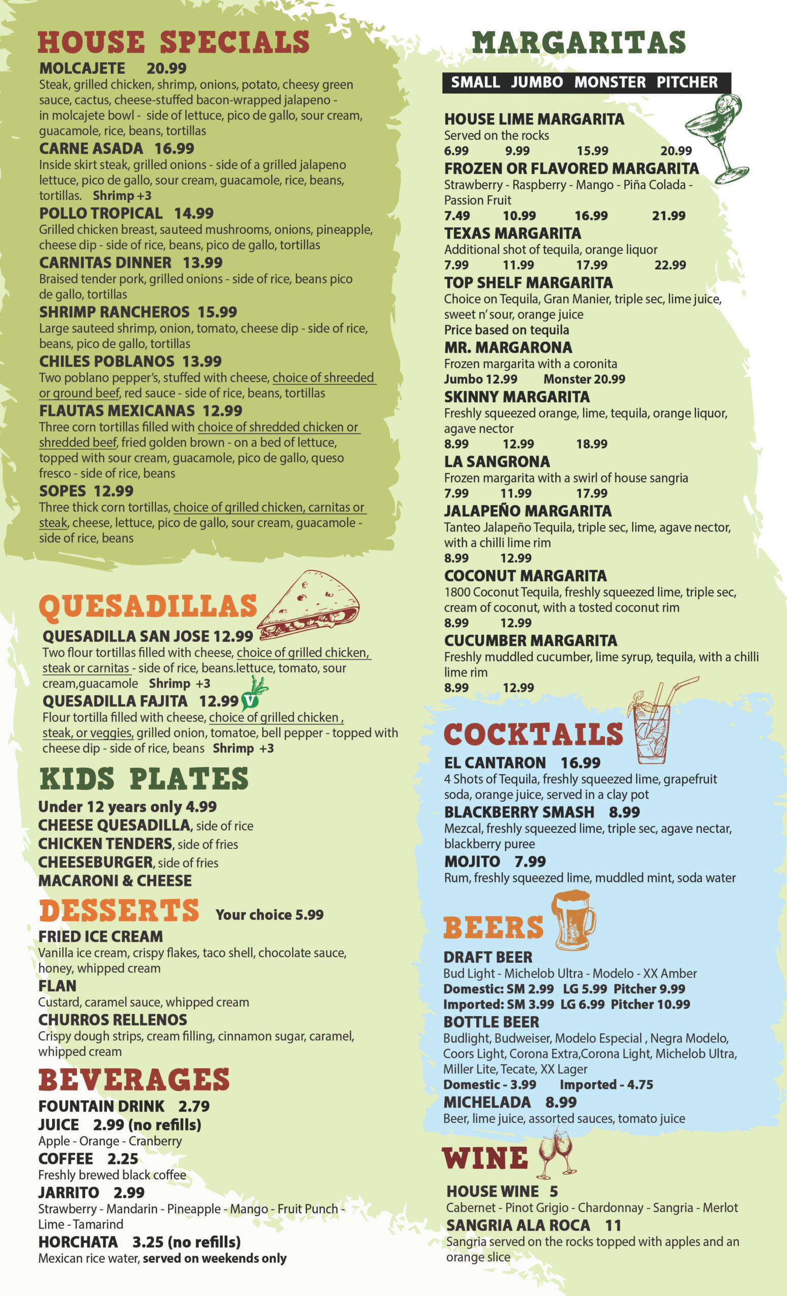 Mr. Tequila Mexican Restaurant Sarasota Menu 1