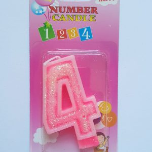 No. 4 Pink Candle