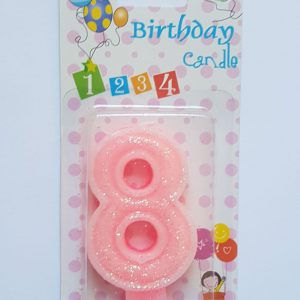 No. 8 Pink Candle