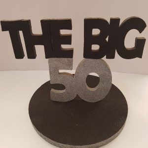 Black the Big 50  center piece