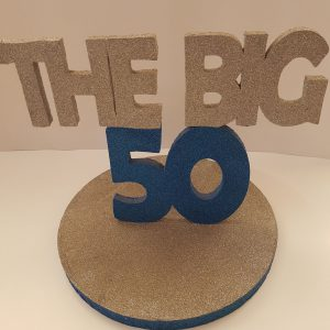 Blue the Big 50  center piece