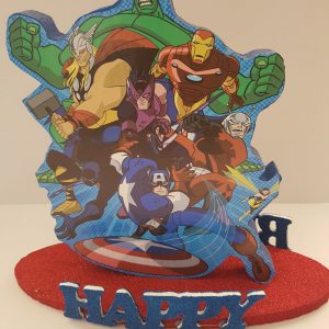 Avengers happy birthday center piece