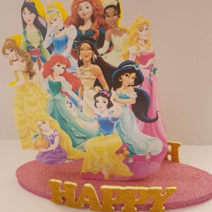 Princess happy birthday center piece