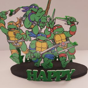 Ninja Turtles happy birthday center piece