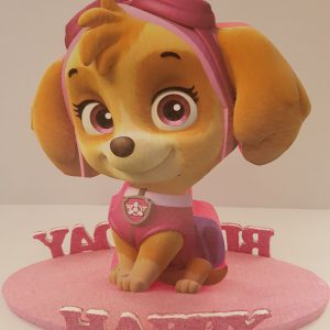 Paw Patrol happy birthday center piece