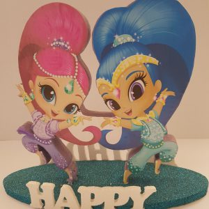 Shimmer and Shine happy birthday center piece