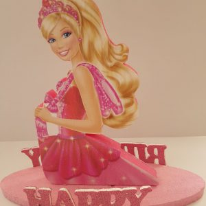 Barbie happy birthday center piece