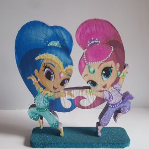 Shimmer and Shine themed center piece