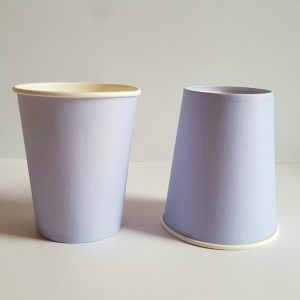 Lilac colourful party cups