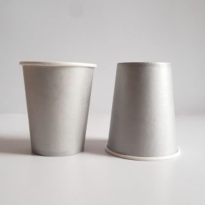 Silver colourful party cups