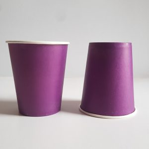 Purple colourful party cups