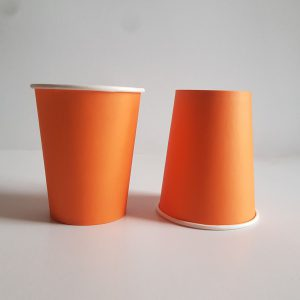 Orange colourful party cups
