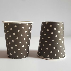 Black Polka Dots colourful party cups