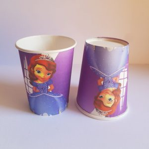 Sophia the 1st themed cups