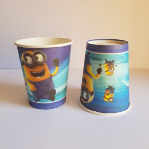 Minions themed cups
