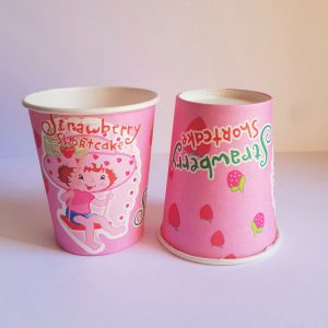 Strawberry Shortcake themed cups