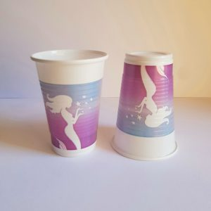 Mermaid themed cups