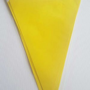 Yellow colourful party flags