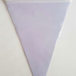 Lilac colourful party flags