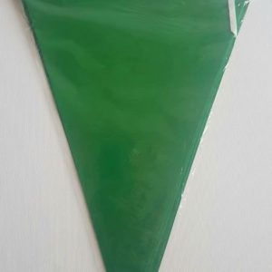 Green colourful party flags