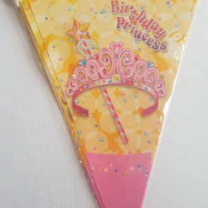 Princess colourful party flags