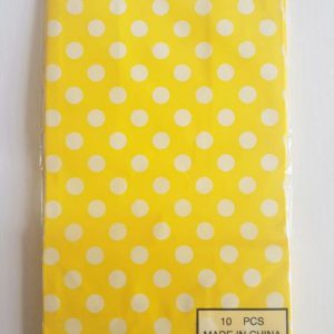 Colourful polka dot party bags, Yellow.