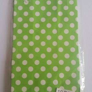 Colourful polka dot party bags, Lime Green.