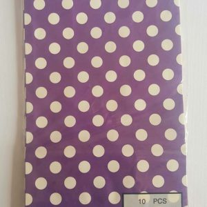 Colourful polka dot party bags, Purple.