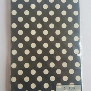 Colourful polka dot party bags, Black.