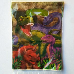 Dinosaur themed party bags