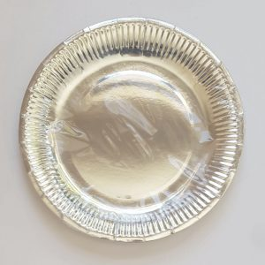 Silver colourful party plates