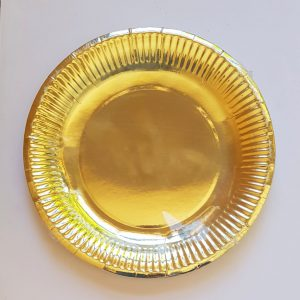 Gold colourful party plates