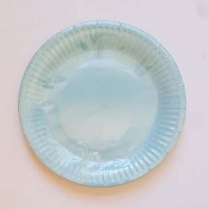 Light Blue colourful party plates