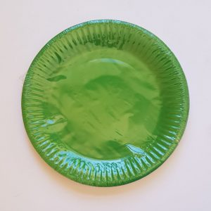 Green colourful party plates