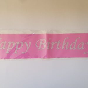 Pink Happy Birthday Sash