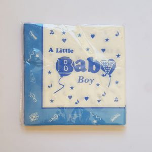 Baby Boy colourful serviettes