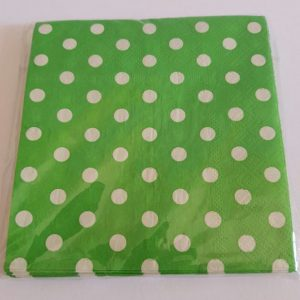 Lime Green Polka Dots small serviettes