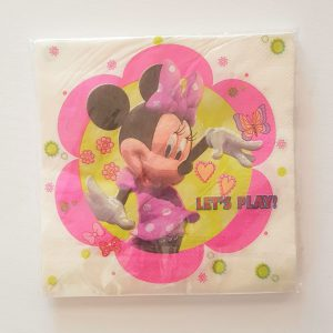 Minnie Mouse themed serviettes