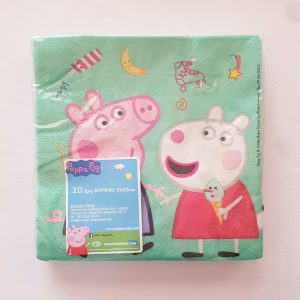Peppa Pig themed serviettes