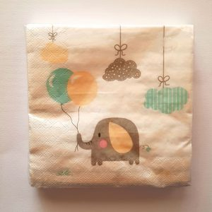 Elephant themed serviettes