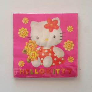 Hello Kitty themed serviettes